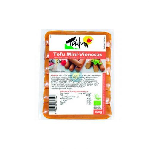 Salchichas de tofu mini vienesas 160 gr. Taifun
