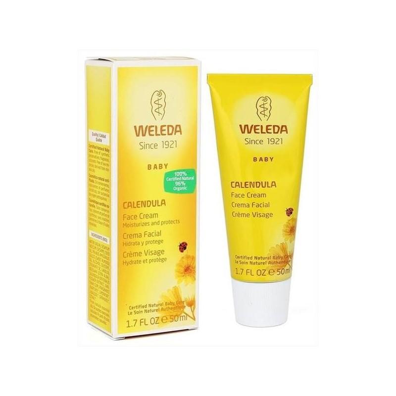Crema facial de caléndula hidrata y protege 50 ml. Weleda