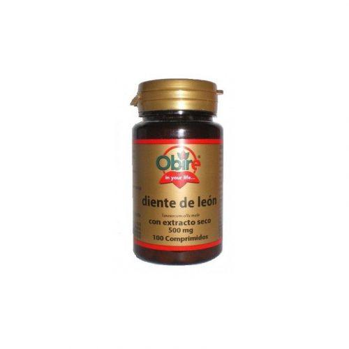 Diente de león con extracto seco 100 comprimidos de 500 mg. Obire