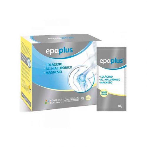 Epaplus colágeno, ácido hialurónico, magnesio, vitamina C y B2.