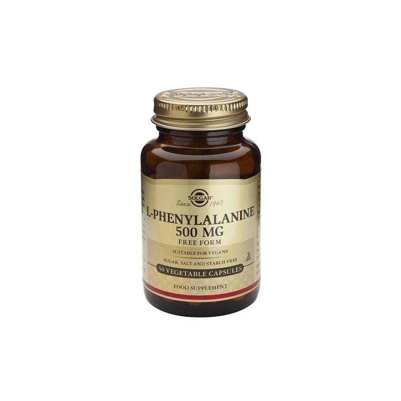 F-fenilalanina 500 mg 50 cápsulas vegetales. Solgar