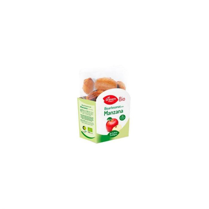 Galletas bioartesanas con manzana de cultivo ecológico 250 gr. El Granero