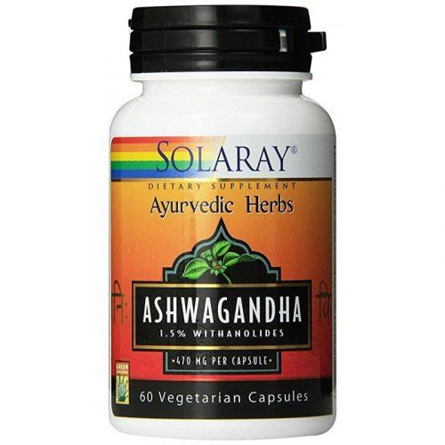 Ashwagandha 60 cápsulas de 470 mg. Solaray