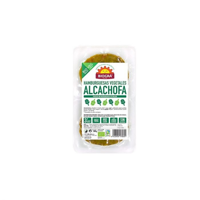 Hamburguesas vegetales de alcachofa 160 gr. Biográ