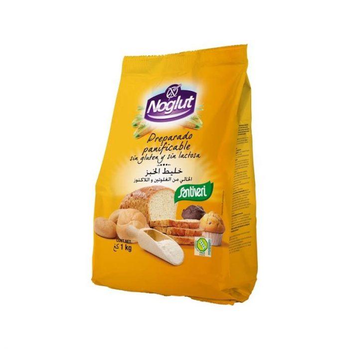 Preparado panificable sin gluten y sin lactosa Noglut 1 kg. Santiveri