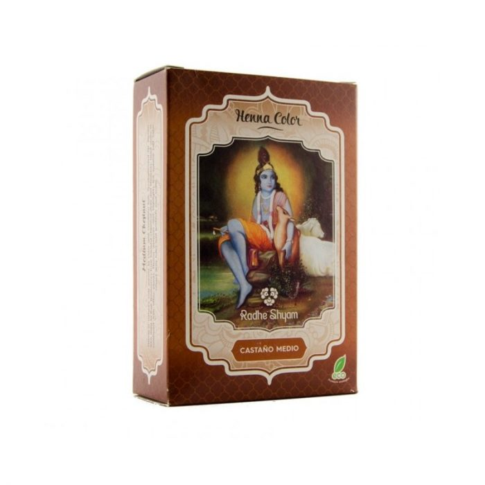 Henna color castaño medio 100 gr. Radhe Shyam