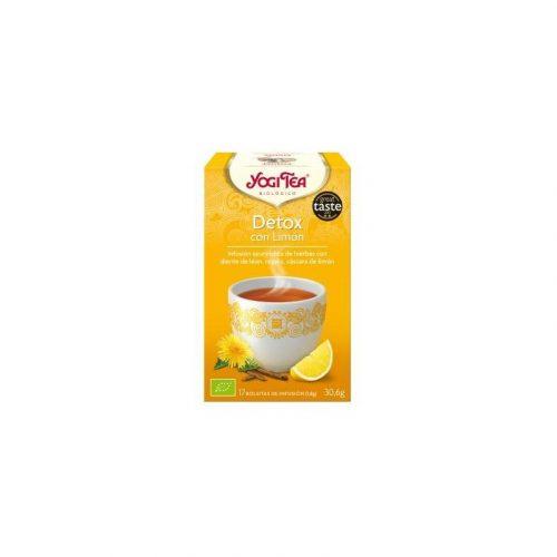 Té detox con limón 17 filtros 30.6 gr. Yogi Tea