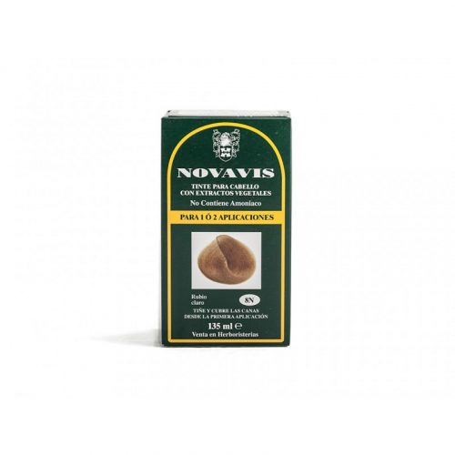 Tinte para cabello con extractos vegetales rubio claro ceniza 8c 135 ml. Novavis
