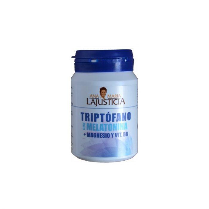 Triptófano con melatonina + magnesio y vitamina B6 60 comprimidos. Ana María Lajusticia