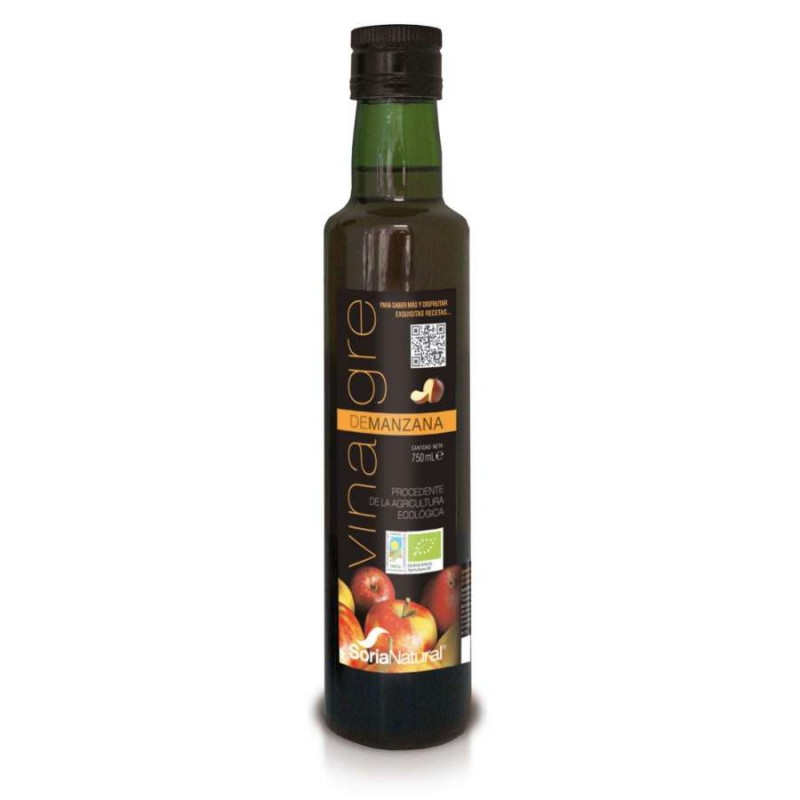 Vinagre de manzana bio 750 ml. Soria Natural