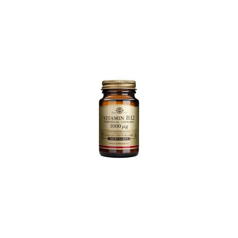 Vitamina B 12 1000 UI 100 comprimidos. Solgar