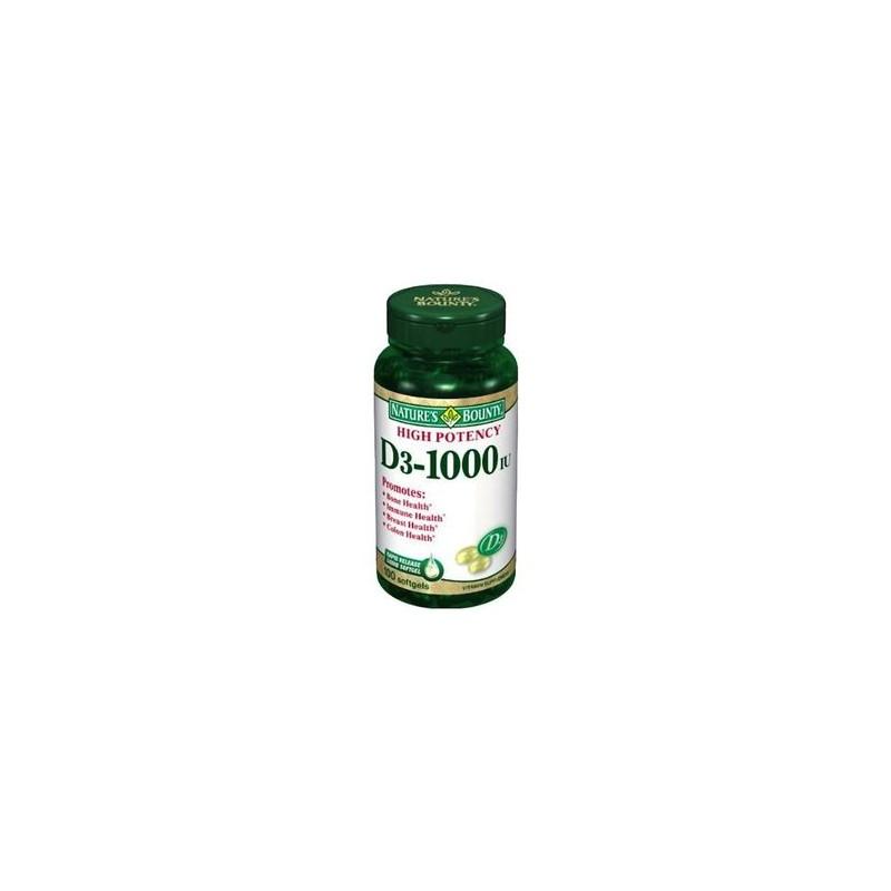 Vitamina D3 1000 IU 23 mg. 100 comprimidos. Nature´s Bounty