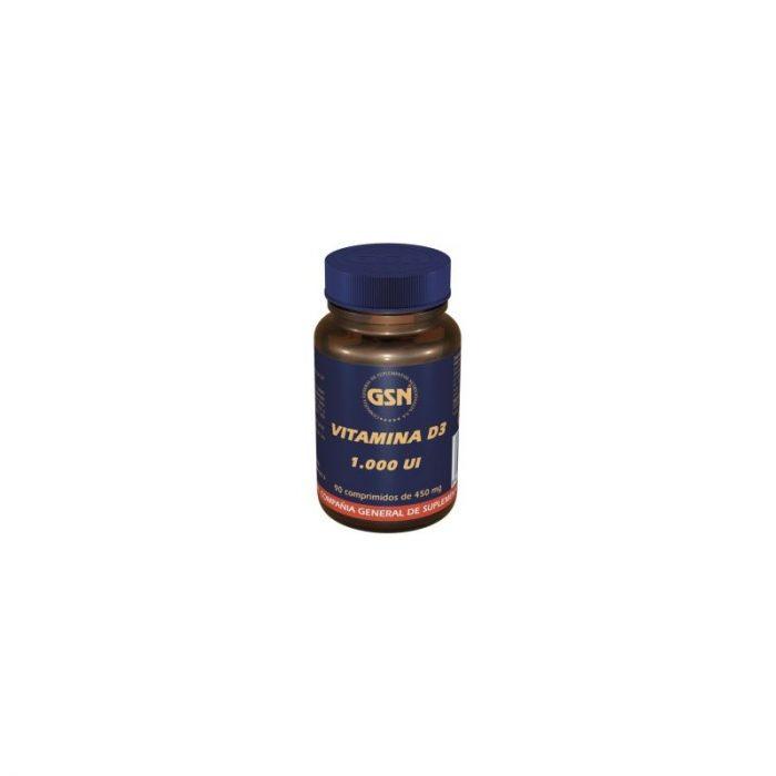 Vitamina D3 1000 UI 90 comprimidos de 450 mg. G.S.N.