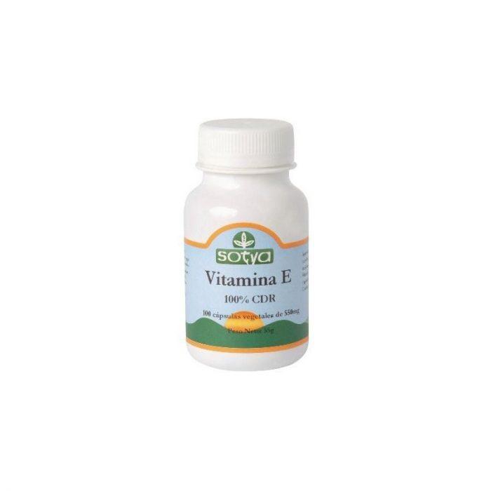 Vitamina E 100 % CDR 100 cápsulas de 550 mg. Sotya