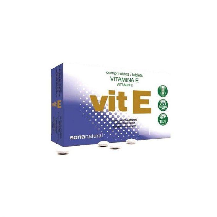 Vitamina E 48 comprimidos. Soria Natural