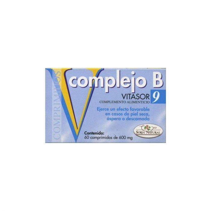 Vitasor 9 complejo B 60 comprimidos de 600 mg. Soria Natural