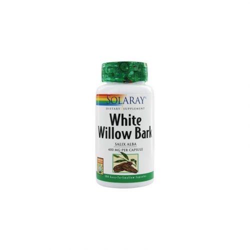 White Willow Bark (corteza de sauce blanco) 100 cápsulas de 400 mg. Solaray