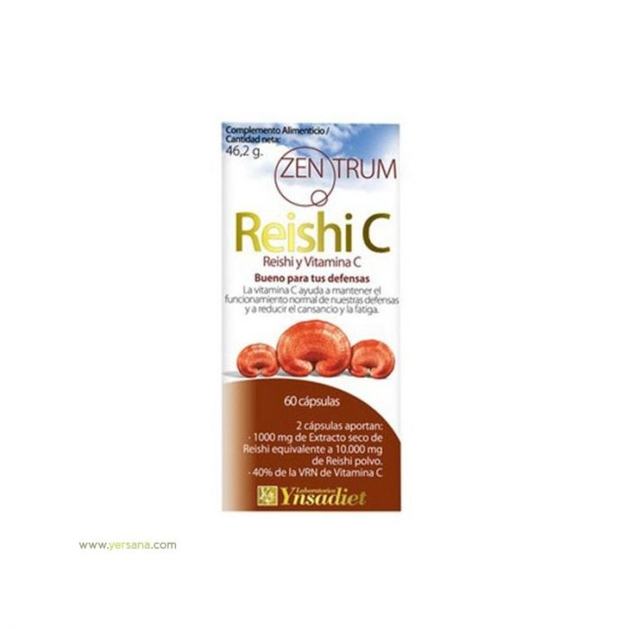 Reishi y vitamina C Zentrum 60 cápsulas. Ynsadiet