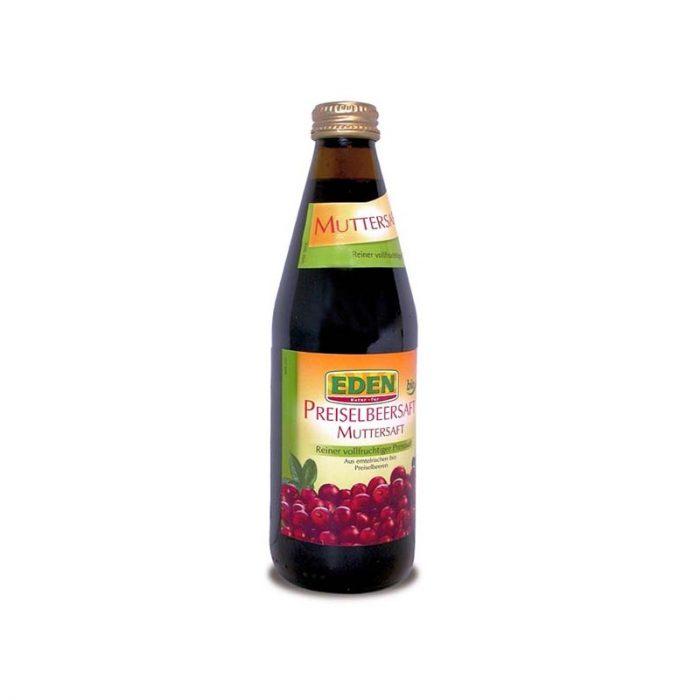 Zumo de arándanos rojos bio Eden 330 ml. El Granero
