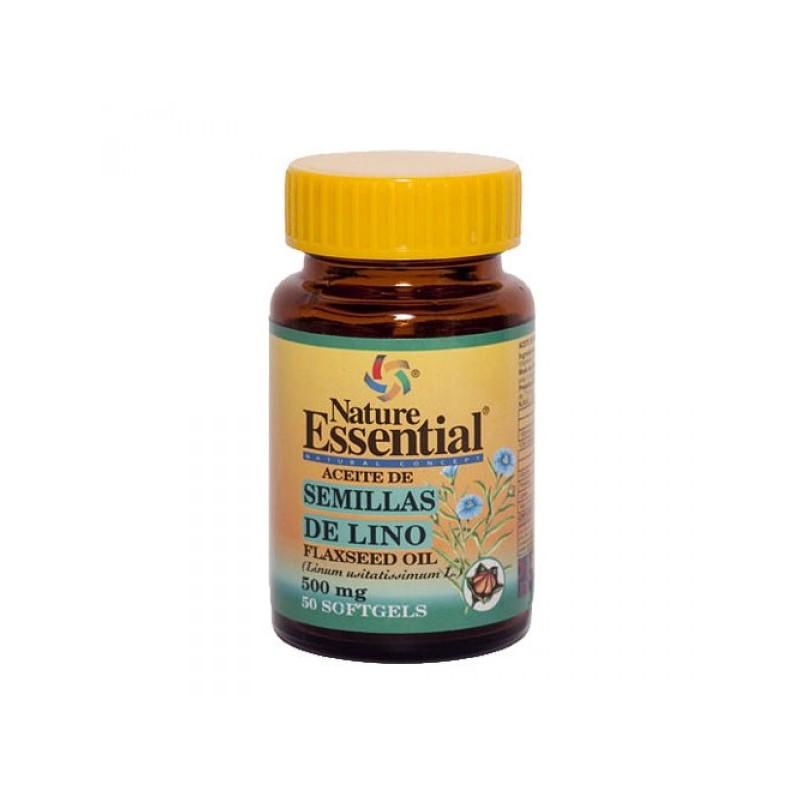 Aceite de semillas de lino 500 mg. 50 perlas. Nature Essential