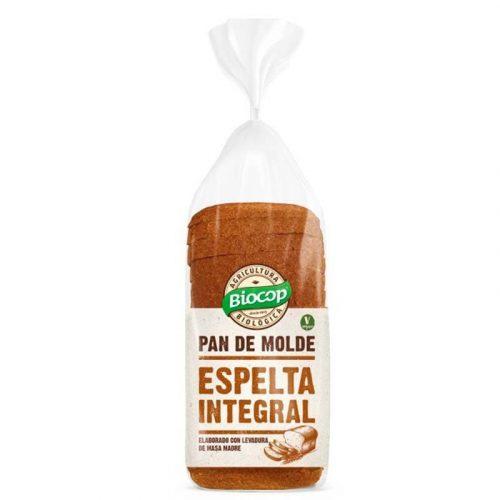 PAN DE MOLDE ESPELTA INTEGRAL 400GR. BIOCOP